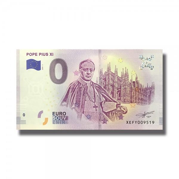 0 EURO SOUVENIR BANKNOTE POPE PIUS XI 2019 GERMANY XEFY