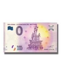 0 Euro Souvenir Banknote Bologna La Fontana Del Nettuno 2019 Italy SEBE