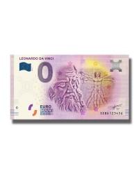 0 Euro Souvenir Banknote Leonardo Da Vinci 2019 Italy SEBD