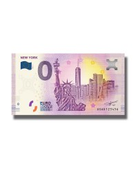 0 Euro Souvenir Banknote New York 2019 USA