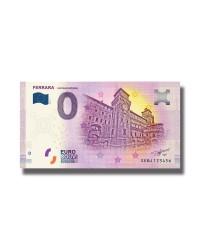0 Euro Souvenir Banknote Ferrara Castello Estense 2019 Italy