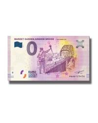0 Euro Souvenir Banknote Market Garden Arnhem Bridge 17 Sept 1944 2019 Netherlands