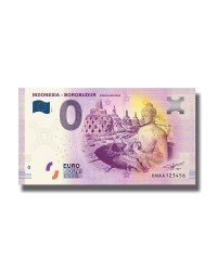 0 Euro Souvenir Banknote Indonesia Borobudur Unesco World Heritage 2019 Indonesia DNAA