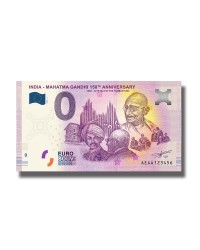 0 Euro Souvenir Banknote India - Mahatma Gandhi 150Th Anniversary 1868-2019 Tale Of The Turban 1893