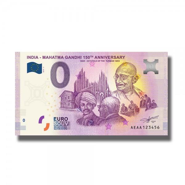 0 Euro Souvenir Banknote India - Mahatma Gandhi 150Th Anniversary 1868-2019 Tale Of The Turban 1893