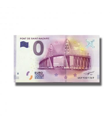 0 EURO SOUVENIR BANKNOTE PONT DE SAINT NAZAIRE FRANCE 2016-1 UEFY