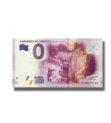 0 EURO SOUVENIR BANKNOTE CARRIERES DE LUMIERES FRANCE 2016-2 UEDH
