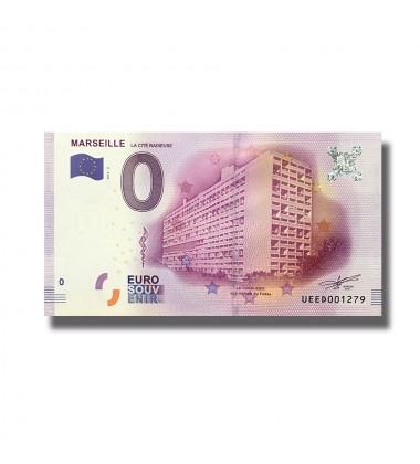 0 EURO SOUVENIR BANKNOTE MARSEILLE FRANCE 2016-2 UEED