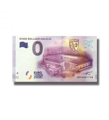 0 EURO SOUVENIR BANKNOTE STADE BOLLAERT DELELIS FRANCE 2016-1 UEFU
