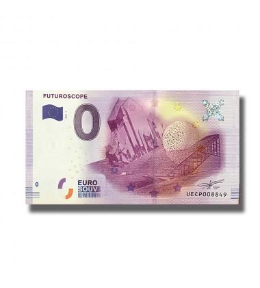 0 EURO SOUVENIR BANKNOTE FUTUROSCOPE FRANCE 2016-1 UECP