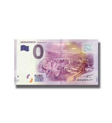 0 EURO SOUVENIR BANKNOTE GERARDMER FRANCE 2016-1 UEEQ