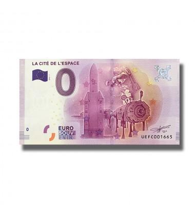 0 EURO SOUVENIR BANKNOTE LA CITE DE L`ESPACE FRANCE 2016-1 UEFC