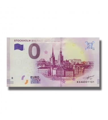 0 EURO SOUVENIR BANKNOTE STOCKHOLM SVERIGE 2019-1 KEAA