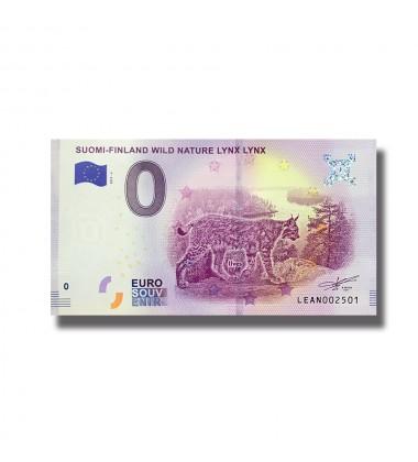 0 EURO SOUVENIR BANKNOTE SUOMI FINLAND WILD NATURE LYNX LYNX 2019-4 LEAN