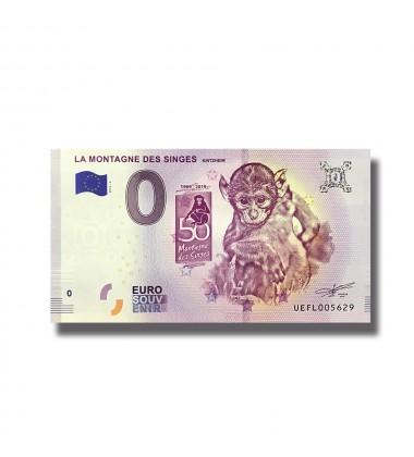 0 Euro Souvenir Banknote La Montagne Des Singes Kintzheim France 2019-4 UEFL