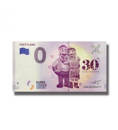 0 Euro Souvenir Banknote Festyland France 2019-3 UEKA