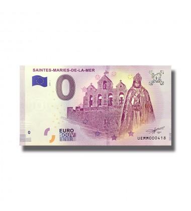 0 Euro Souvenir Banknote Saintes Mairies De La Mer France 2019-1 UEMM