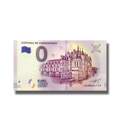 0 Euro Souvenir Banknote Chateau De Chenonceau France 2019-2 UEAM