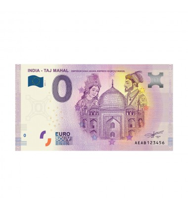 0 Euro Souvenir Banknote Taj Mahal India 2019-1 AEAB