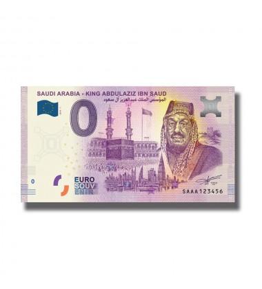0 Euro Souvenir Banknote King Abdul Aziz Ibn Saud Saudi Arabia 2019-1 SAAA