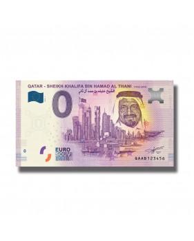 0 Euro Souvenir Banknote Sheikh Khalifa Bin Hamad Al Thani 2019-1 QAAB