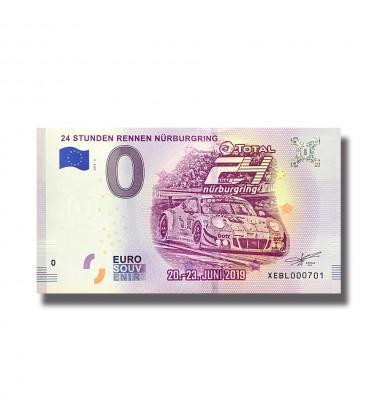 0 EuroSouvenir Banknote 24 Stunden Rennen Nurburgring Germany 2019-2 XEBL