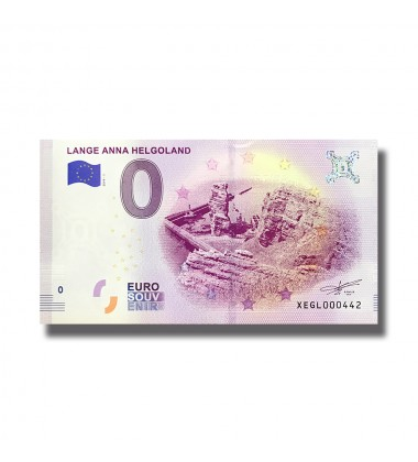 0 EuroSouvenir Banknote Lange Anna Helgoland Germany 2019-1 XEGL
