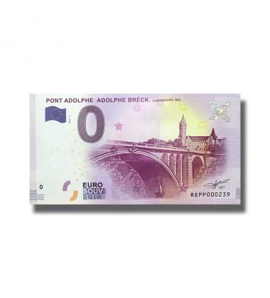 0 EURO SOUVENIR BANKNOTE PONT ADOLPHE ADOLPHE BRECK 2017-1 REPP