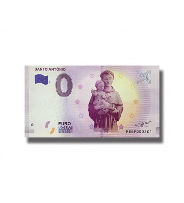 0 EURO SOUVENIR BANKNOTE SANTO ANTONIO 2019-1 MEBP