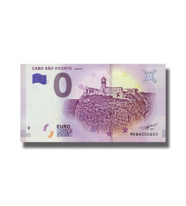 0 EURO SOUVENIR BANKNOTE CABO SAO VINCENTE 2019-1 MEBQ
