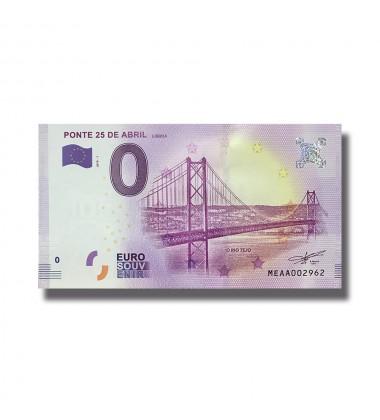 0 EURO SOUVENIR BANKNOTE PONTE 25 DE ABRIL 2018-1 MEAA