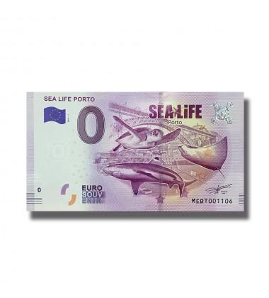 0 EURO SOUVENIR BANKNOTE SEA LIFE PORTO 2019-1 MEBT