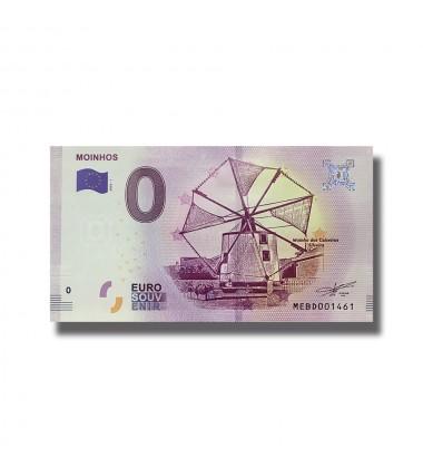 0 EURO SOUVENIR BANKNOTE MOINHOS 2018-1 MEBD
