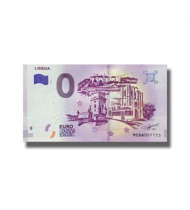 0 EURO SOUVENIR BANKNOTE LISBOA 2019-1 MEBN