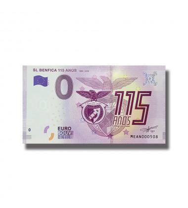 0 EURO SOUVENIR BANKNOTE SL BENFICA 115 ANOS 2019-5 MEAN
