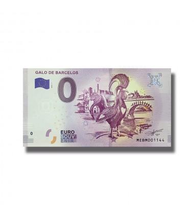 0 EURO SOUVENIR BANKNOTE GALO DE BARCELOS 2019-1 MEBM
