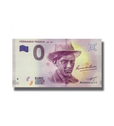 0 EURO SOUVENIR BANKNOTE FERNANDO PESSOA 2018-1 MEBA