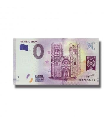 0 EURO SOUVENIR BANKNOTE SE DE LISBOA 2018-1 MEAF