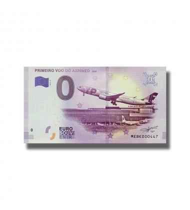 0 EURO SOUVENIR BANKNOTE PRIMEIRO VOO DO A330NEO 2019-3 MEBK