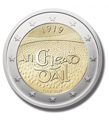 2019 IRELAND 100TH ANNIVERSARY DAIL EIREANN 2 EURO COMMEMORATIVE COIN