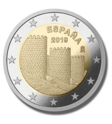 2019 SPAIN AVILA MURAILLES 2 EURO COMMEMORATIVE COIN