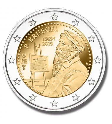 2019 BELGIUM 450TH ANNIVERSARY DEATH OF PIETER BRUEGEL 2 EURO COMMEMORATIVE COIN