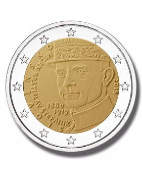 2019 SLOVAKIA 100th anniversary of the death of Milan Rastislav STEFANIK 2 EURO COMMEMORATIVE COIN