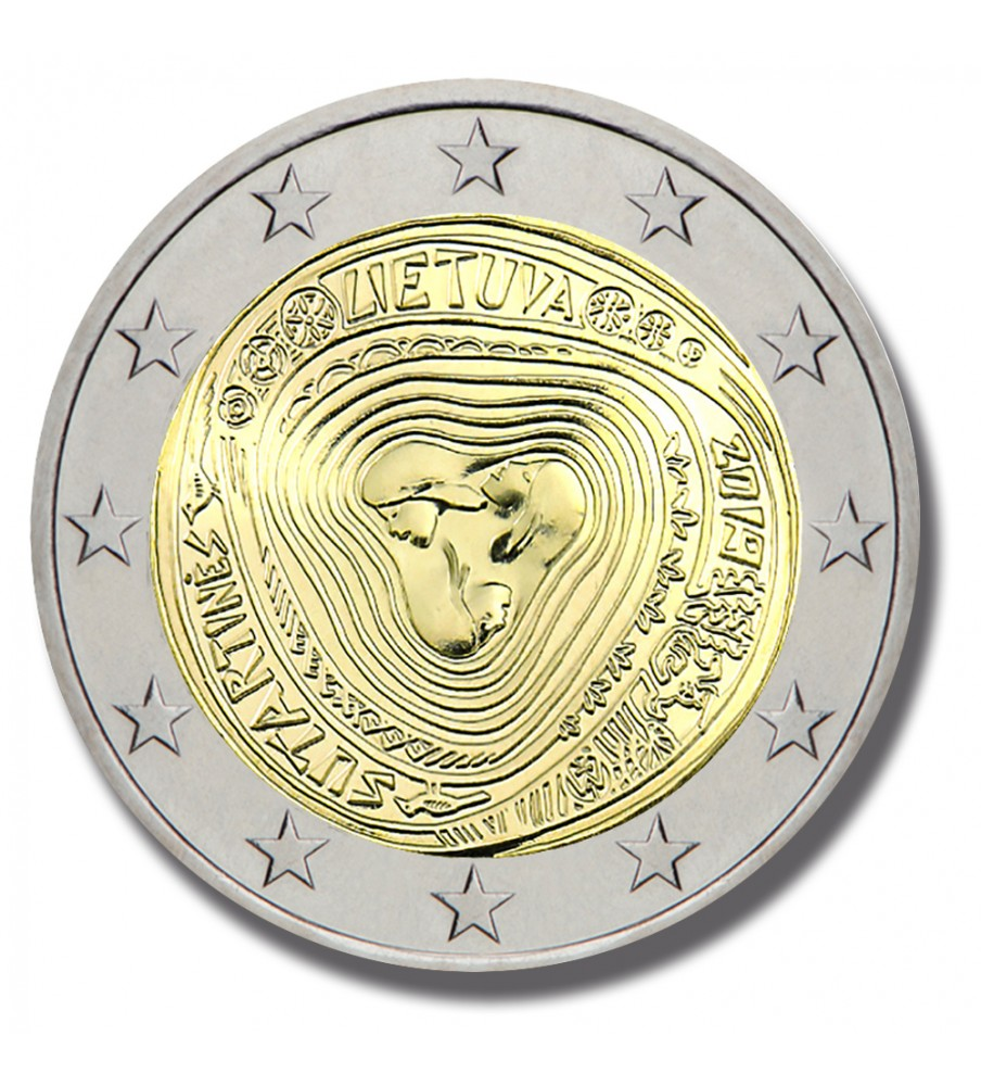 2019 LITHUANIA SUTARTINES SONGS 2 EURO COMMEMORATIVE COIN