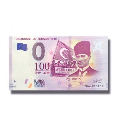 0 Euro Souvenir Banknote Erzurum - 23 Temmuz 1919 TUAJ 2019-1