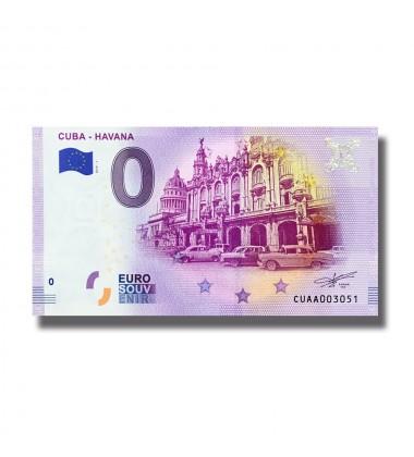 0 Euro Souvenir Souvenir Cuba - Havan CUAA 2019-1