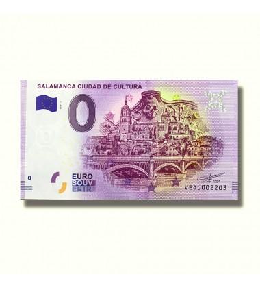 0 Euro Souvenir Banknote Salamanca Ciudad De Cultura Spain VEDL 2019-1