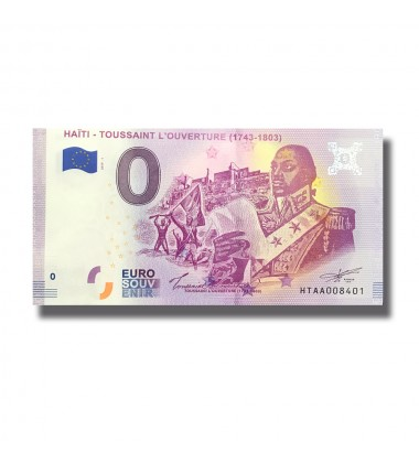 0 Euro Souvenir Banknote Haiti Toussaint L'Overture 1743-1803 Turkey HTAA 2019-1