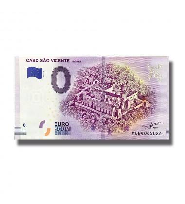 0 Euro Souvenir Banknote Cabo Sao Vicente Sagres MEBQ 2019-2