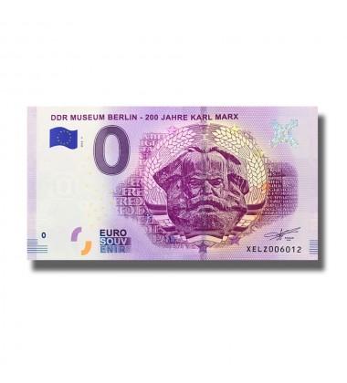 0 Euro Souvenir Banknote DDR Museum Berlin - 200 Jahre Karl Marx Germany XELZ 2018-5